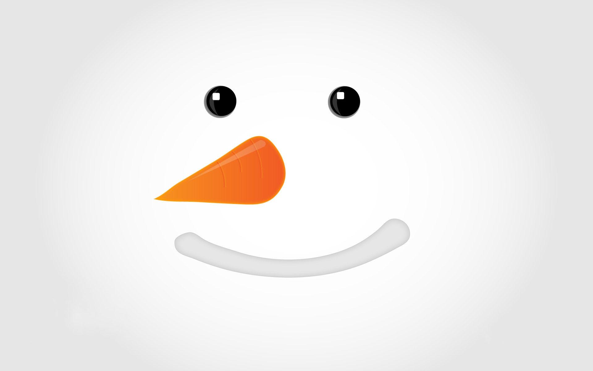 Snowman Smiley Face Wallpaper 1920x1200