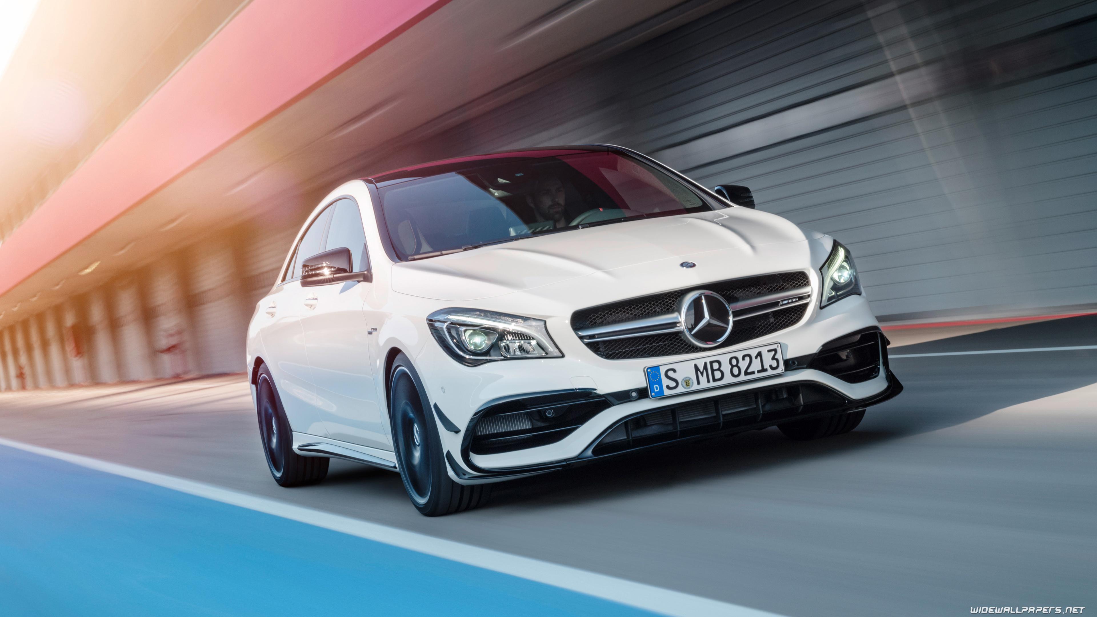 Mercedes Benz CLA class cars desktop wallpapers 4K Ultra HD 3840x2160