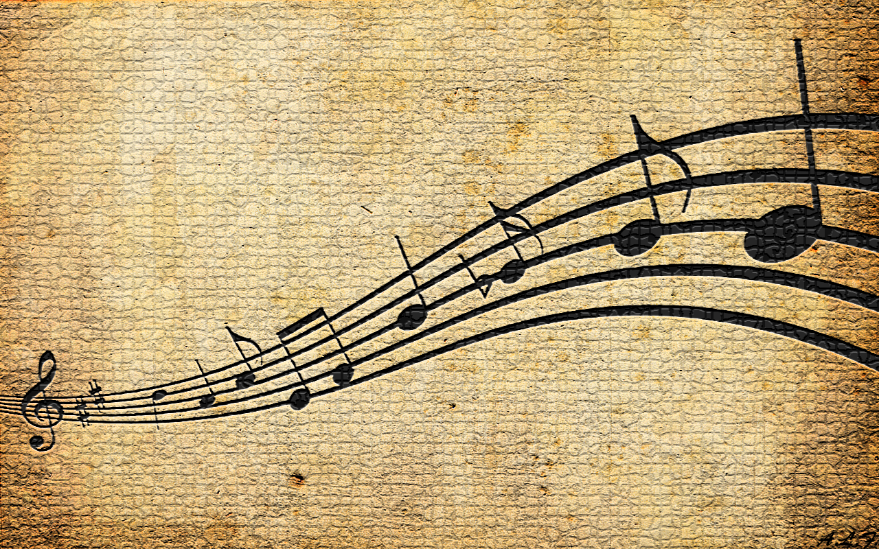 Music Notes Wallpaper 1280x800 Music Notes 1280x800