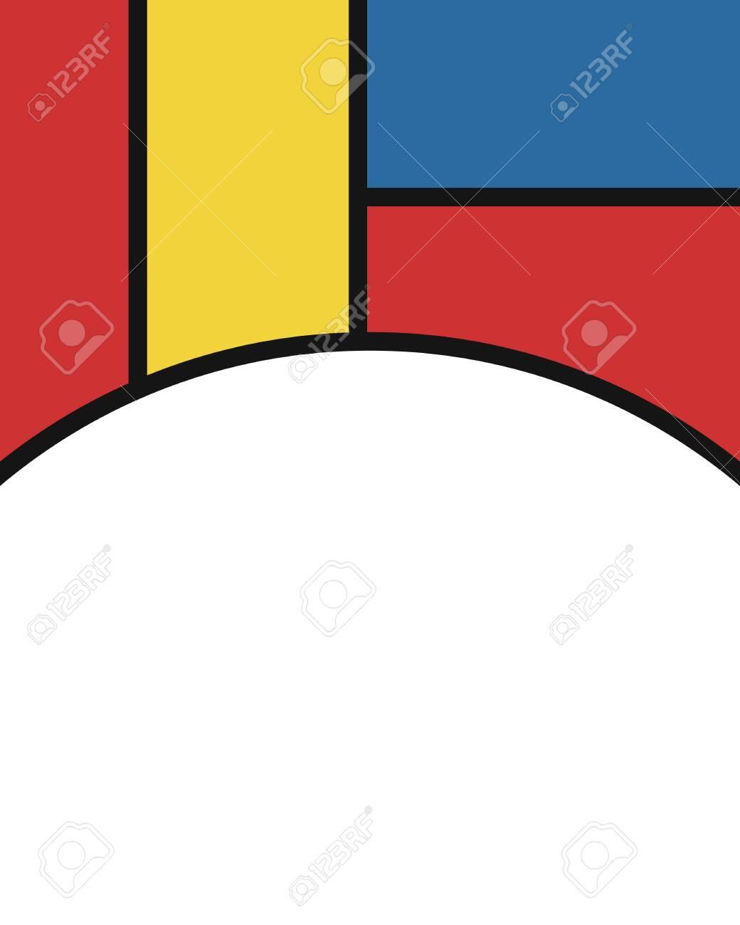 Vector Modern Mondrian Art Background For Brochure Banner And 1040x1300