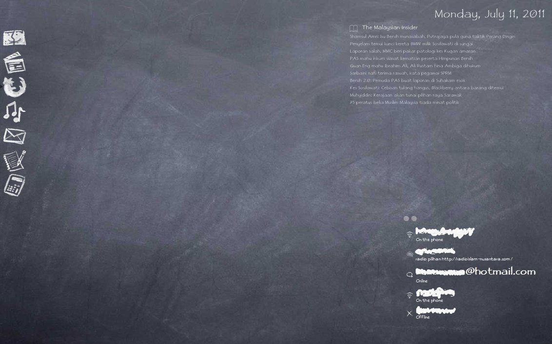 Chalkboard Desktop Wallpaper Chalkboard Desktop Theme by 1132x706