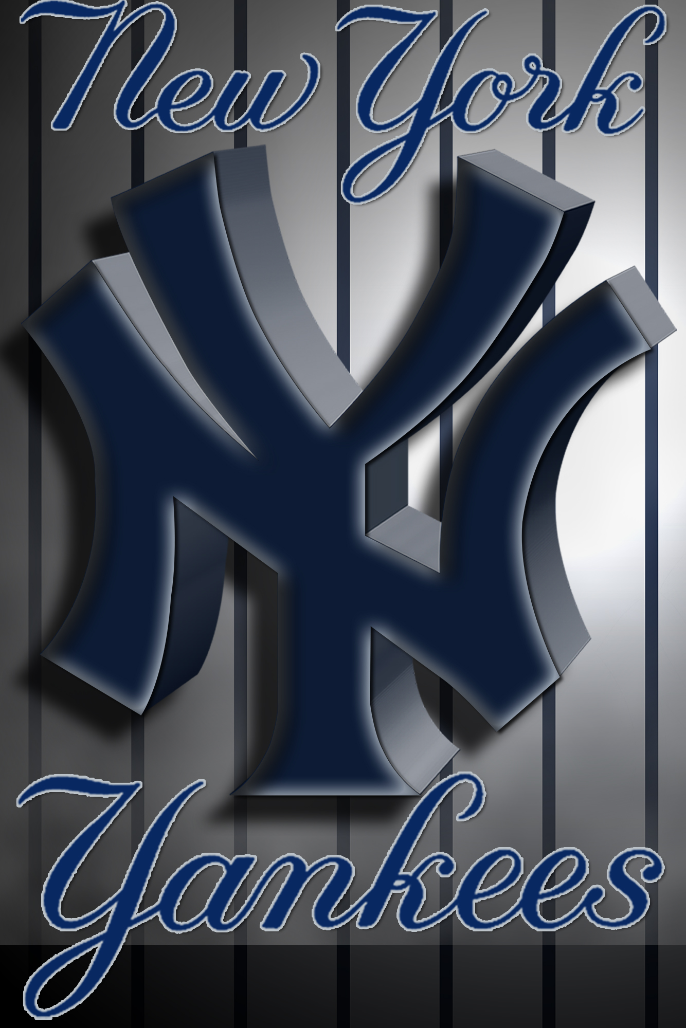 New York Yankees 3D Logo Wallpaper Download Wallpaper 1334x2000