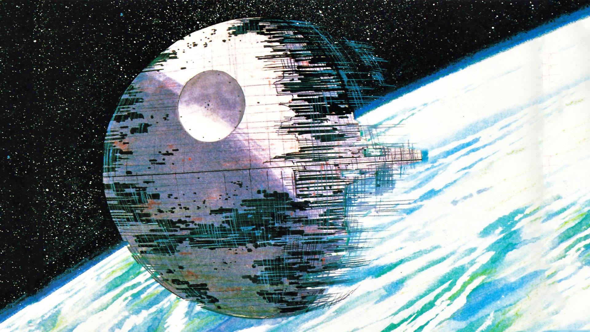 Star Wars Death Star Ralph McQuarrie wallpaper 1920x1080 209347 1920x1080