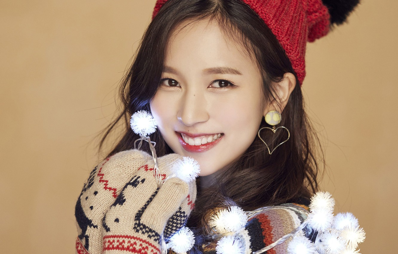Wallpaper Girl Music Kpop Mina Twice Merry and Happy images 1332x850