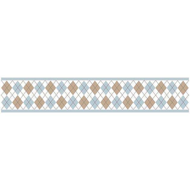 Discontinued Argyle Blue Wallpaper Border 629x629