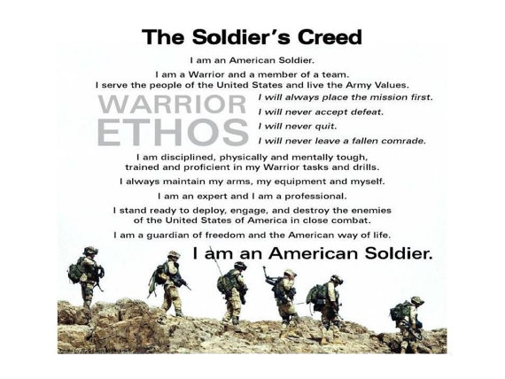 SOLDIER CREED Print   Military Army Navy Marines Air Force Coast 570x428