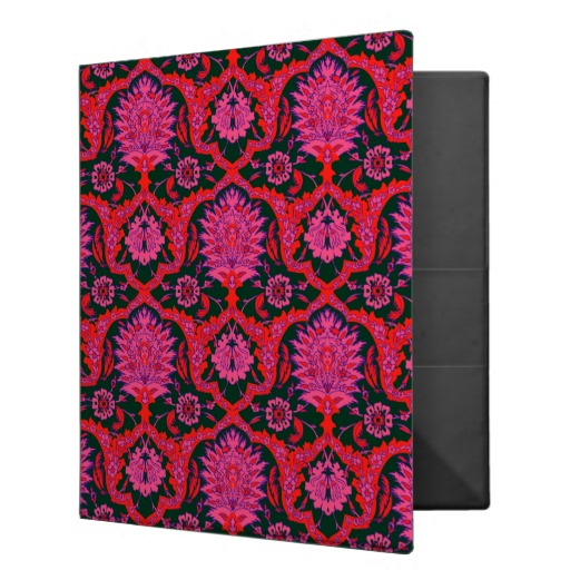 Vintage Brocade Wallpaper Binder Deep Green Red Zazzle 512x512
