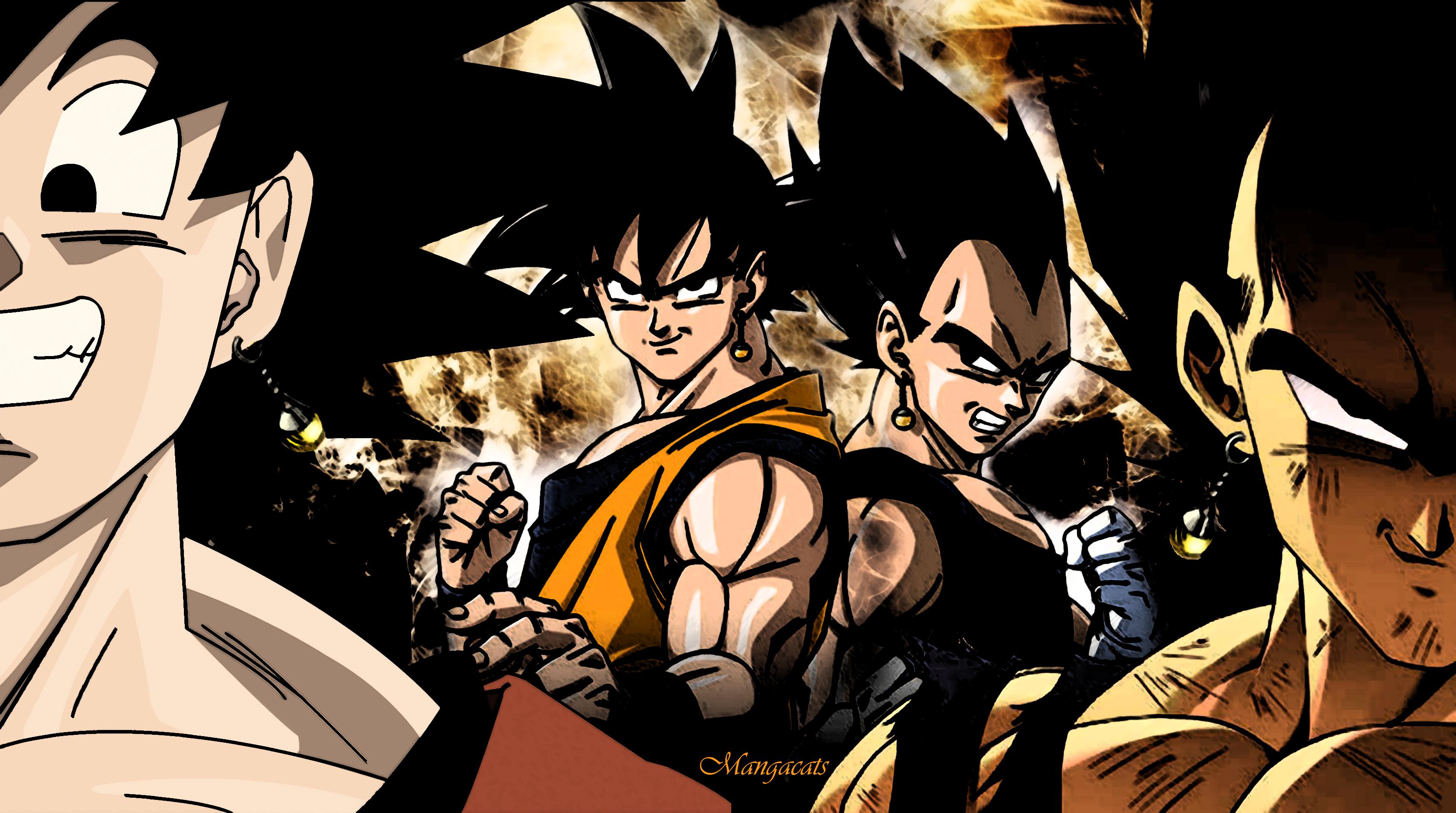 Goku vs Vegeta by HyperBouwerns 3333x1861