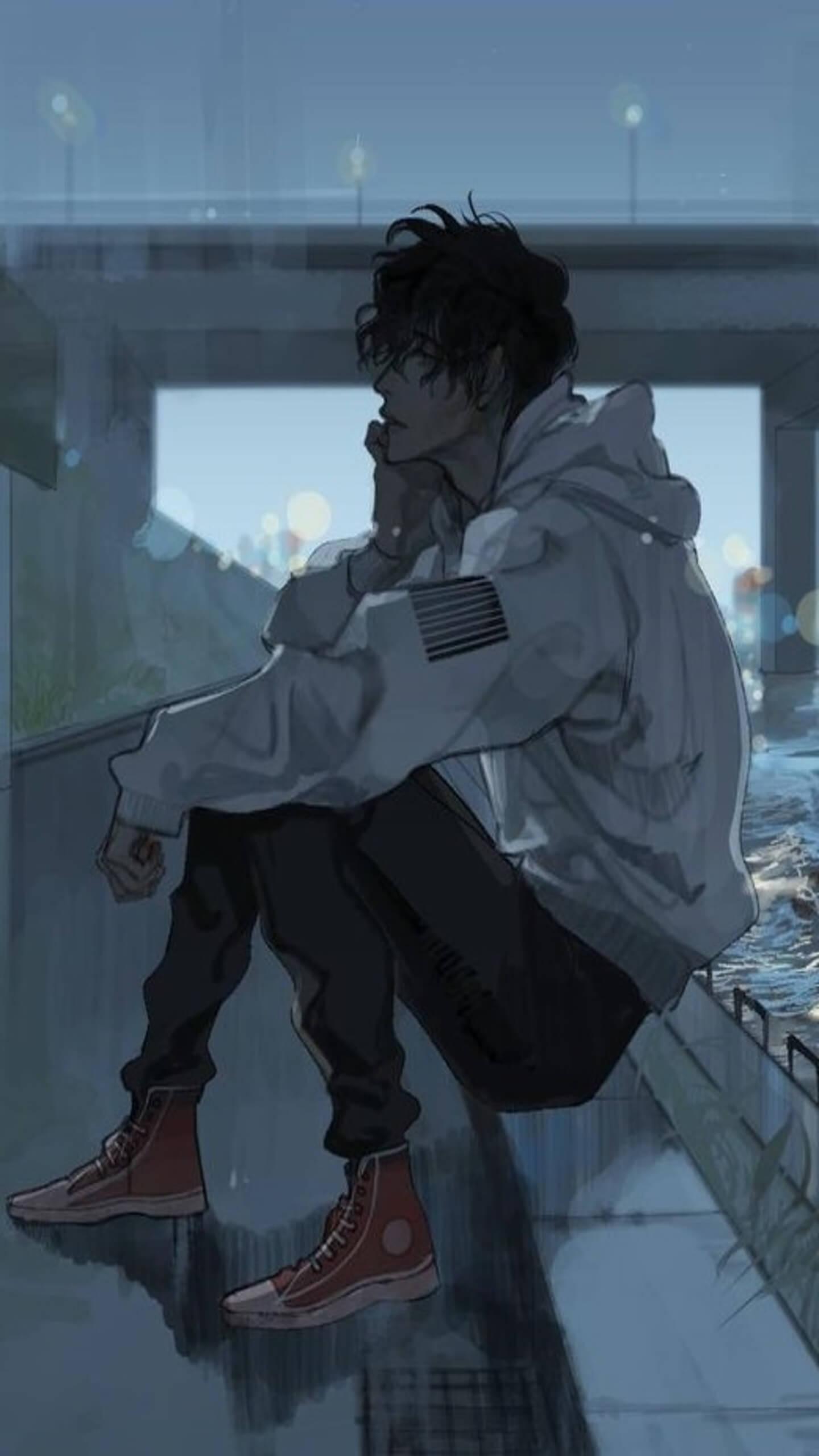 55 Sad Anime Hd Wallpapers On Wallpapersafari