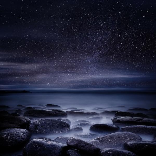 nightoceanstarscoast ocean coast night stars Oceans Wallpapers 600x600