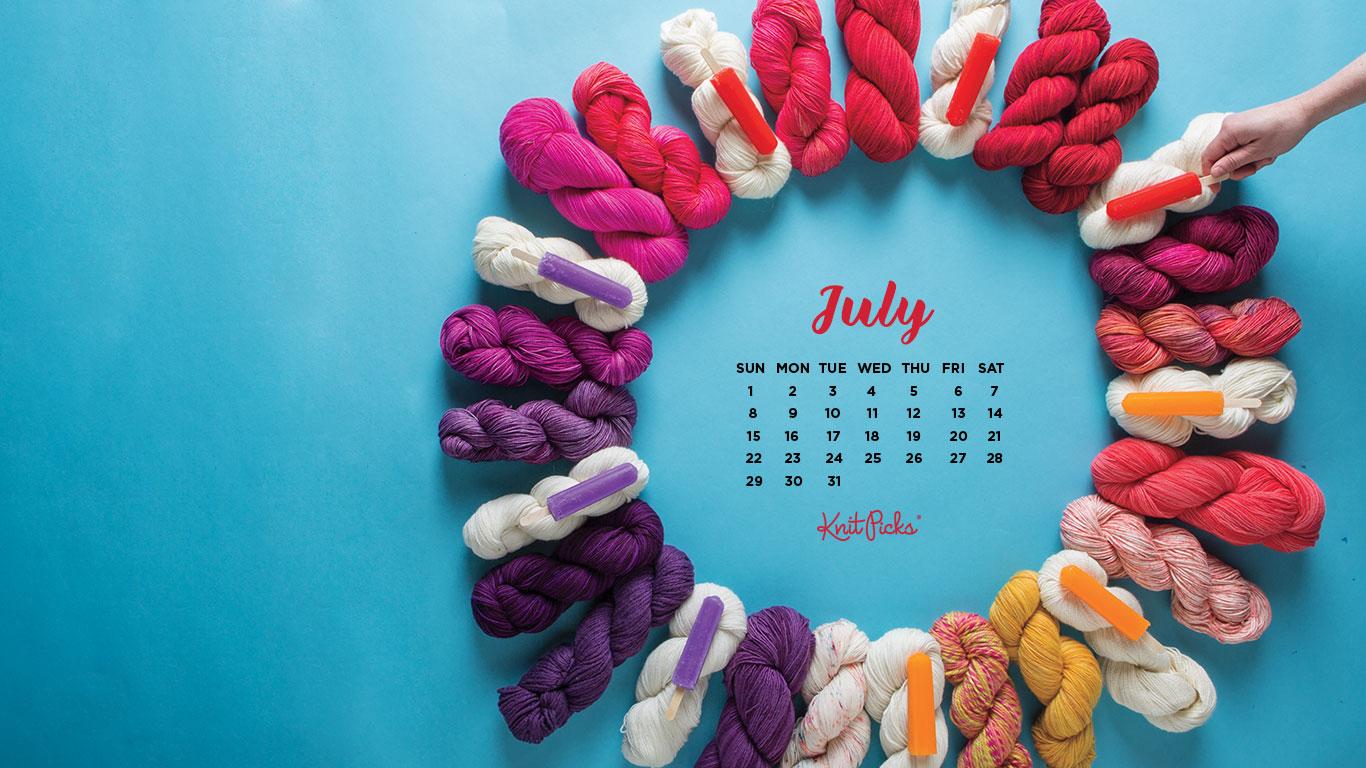 Downloadable July 2018 Calendar   KnitPicks Staff Knitting Blog 1366x768