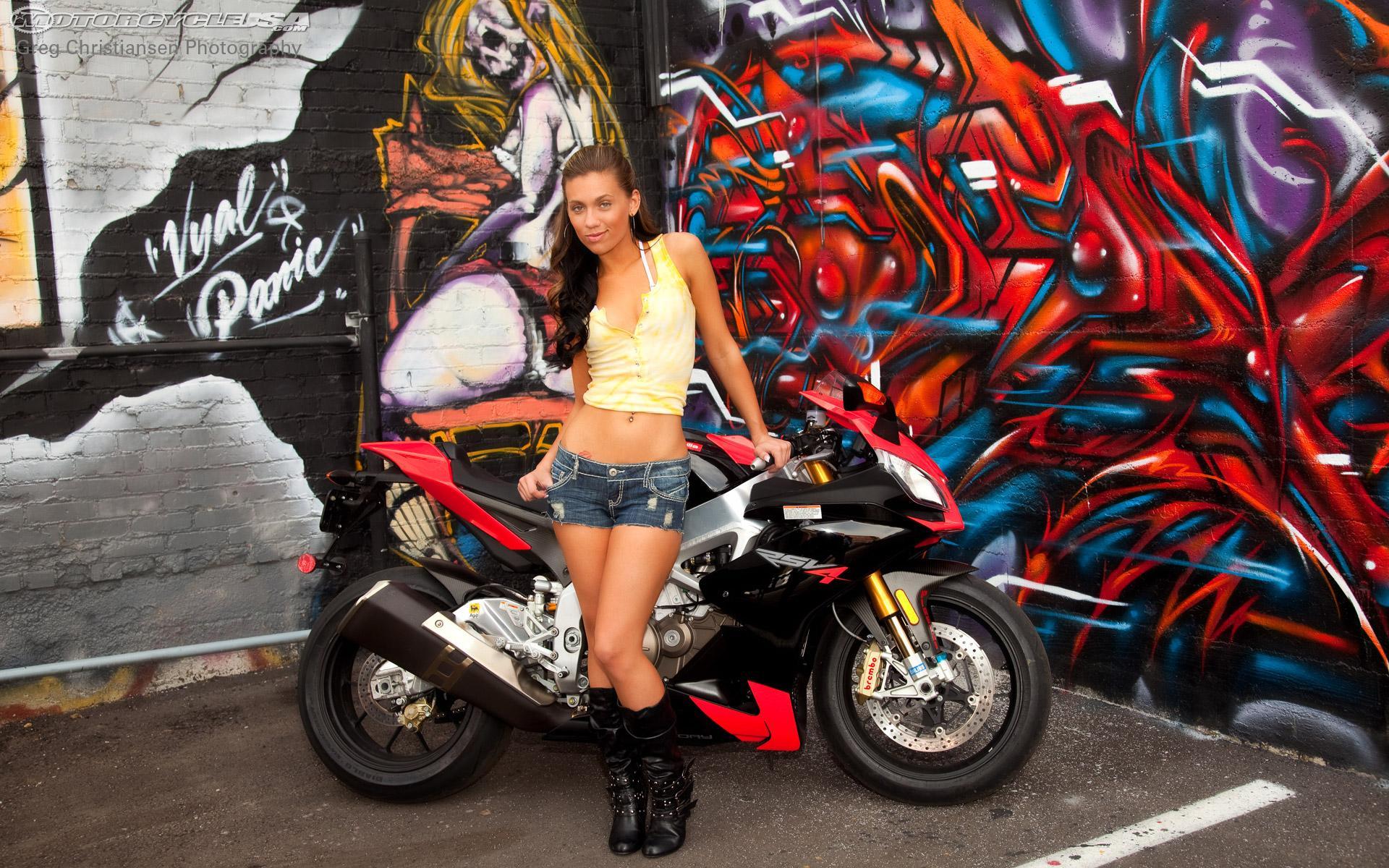 Motorcycles images HOT BABE APRILIA RSV4 wallpaper photos 31778288 1920x1200