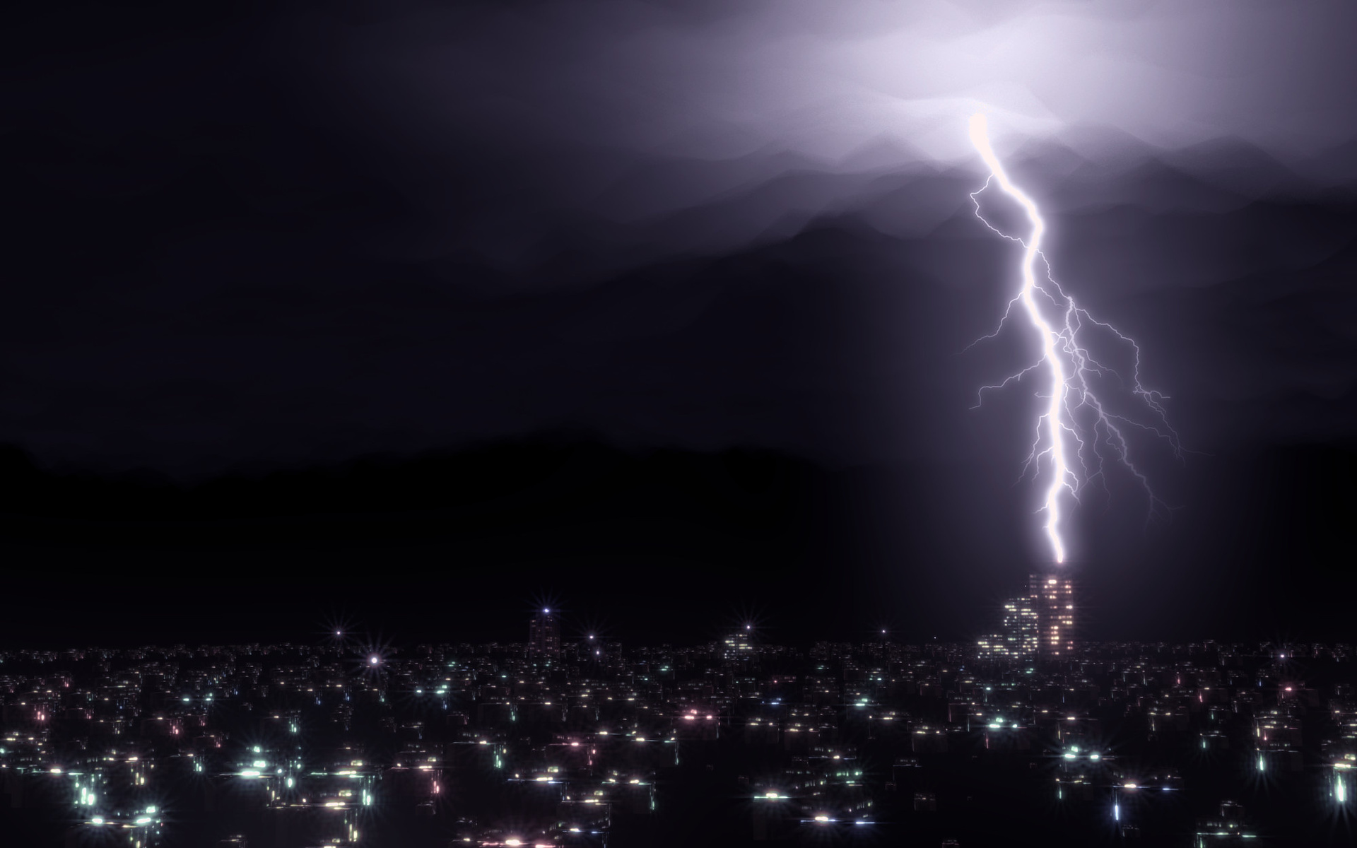 Desktop Lightning HD Wallpapers 1920x1200
