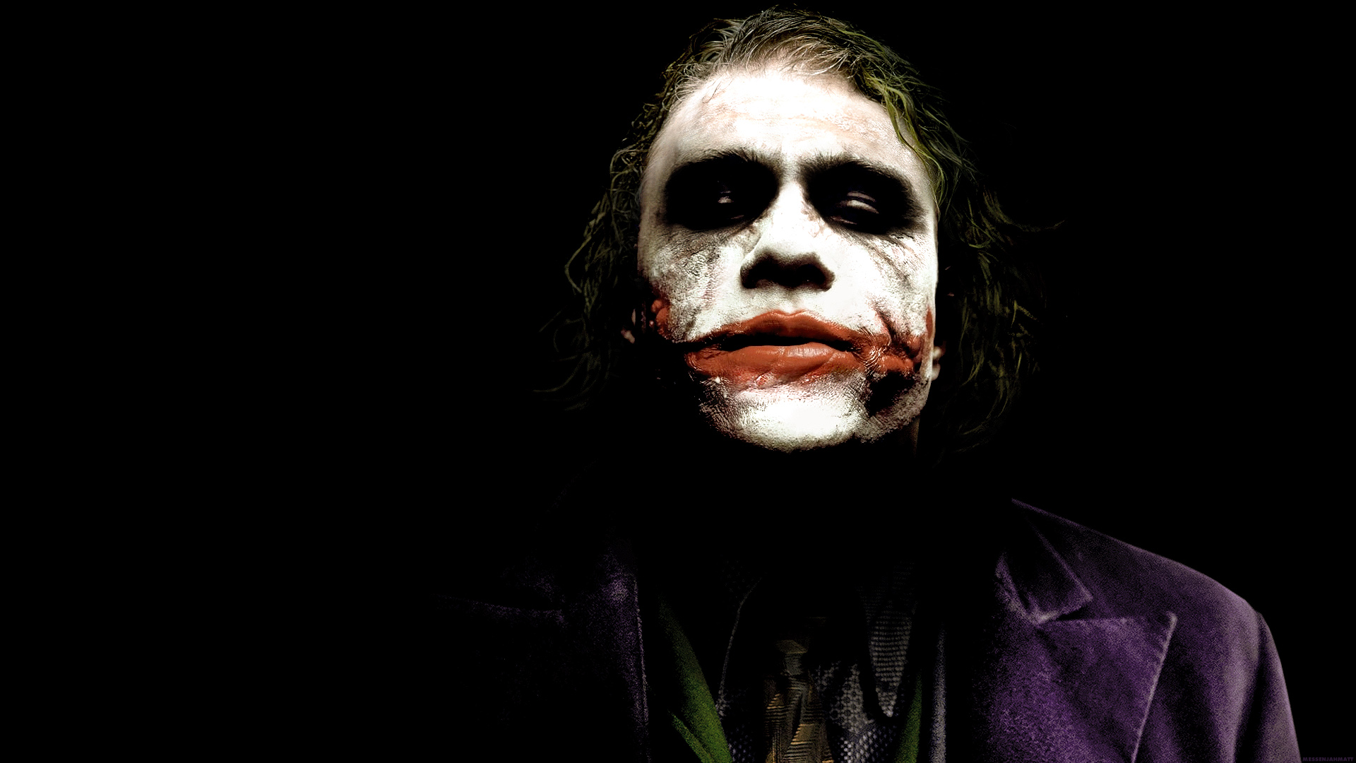 Joker Wallpaper 1920x1080 The Joker Heath Ledger Batman The Dark 1920x1080