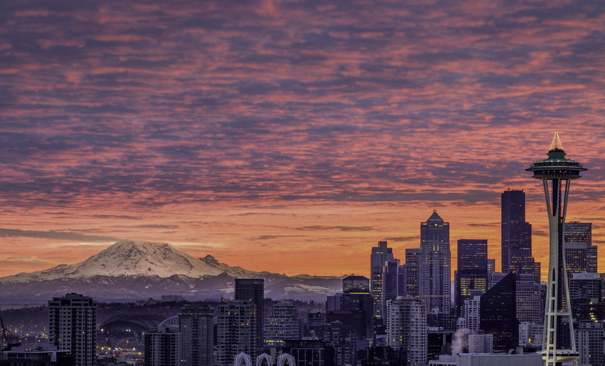 Seattle Sunset Wallpaper 20317 2048x1240   uMadcom 2048x1240