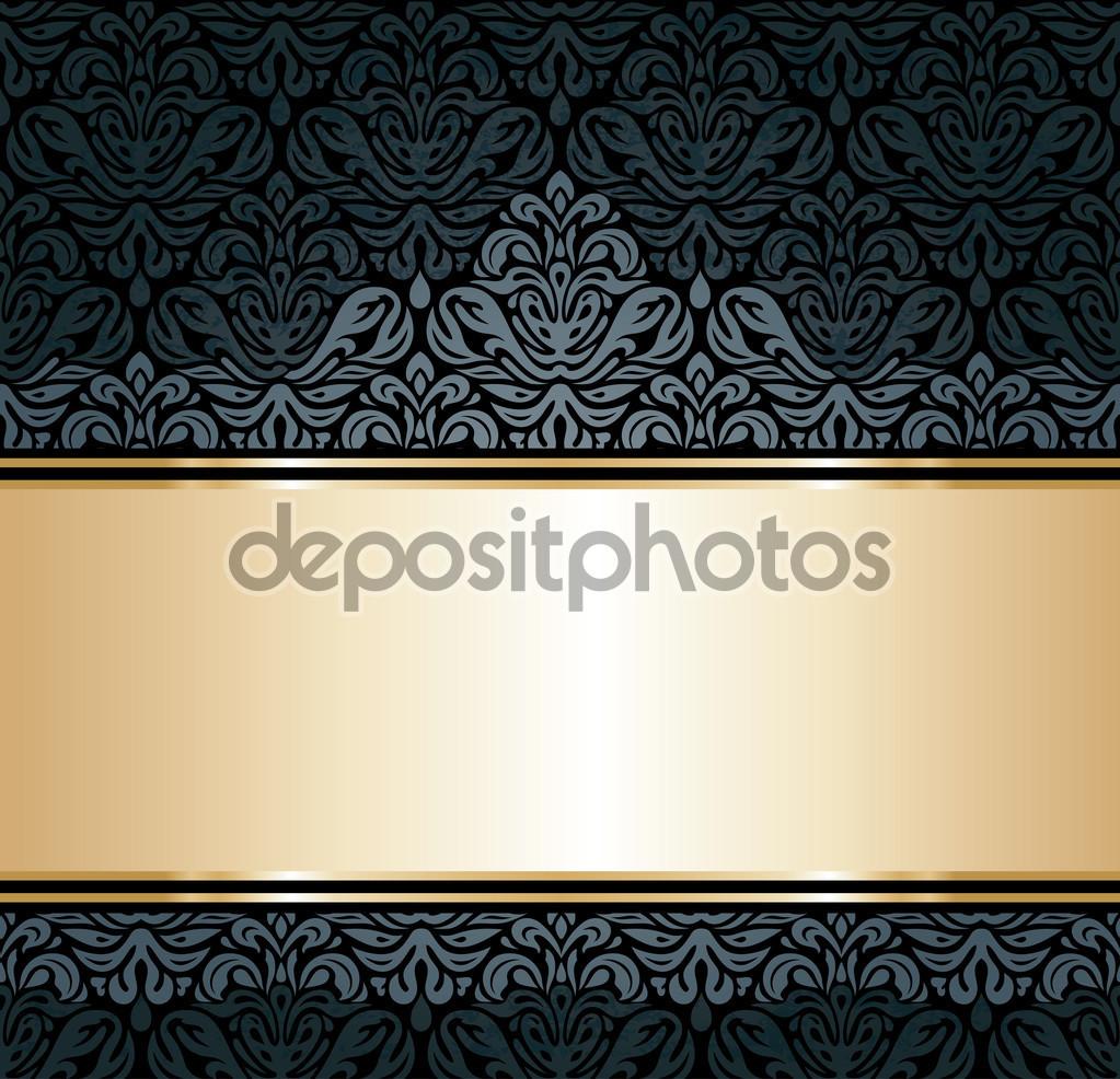 Black And Gold Vintage Wallpaper WallpaperHDCcom 1023x986