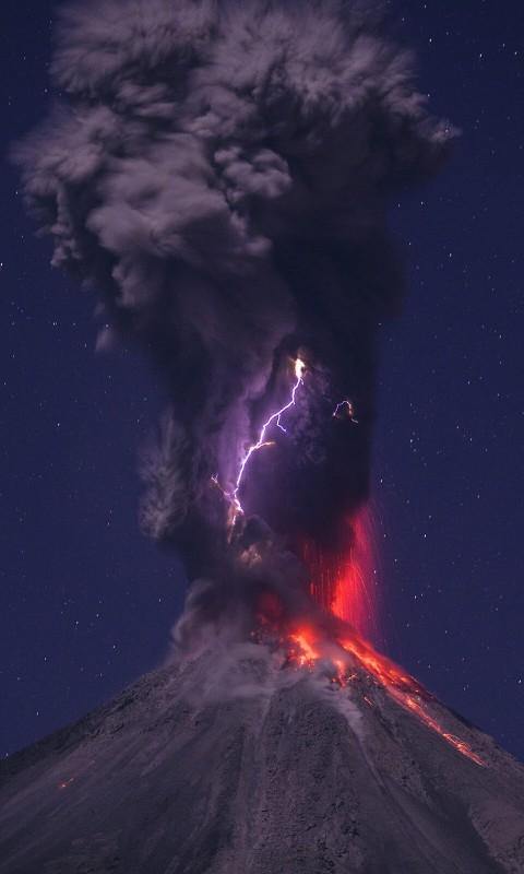 Download Volcanic Lightning HD wallpaper for Desire HD   HDwallpapers 480x800