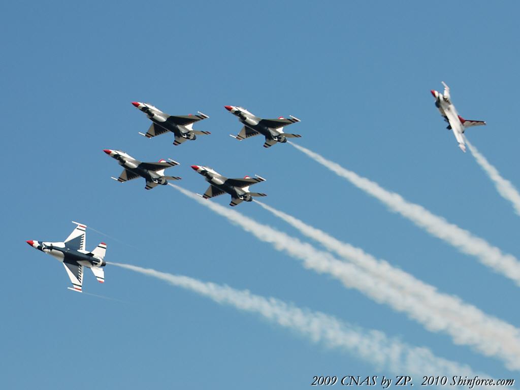 US Air Force Thunderbirds Wallpaper Sega Shin Force Cool 1024x768