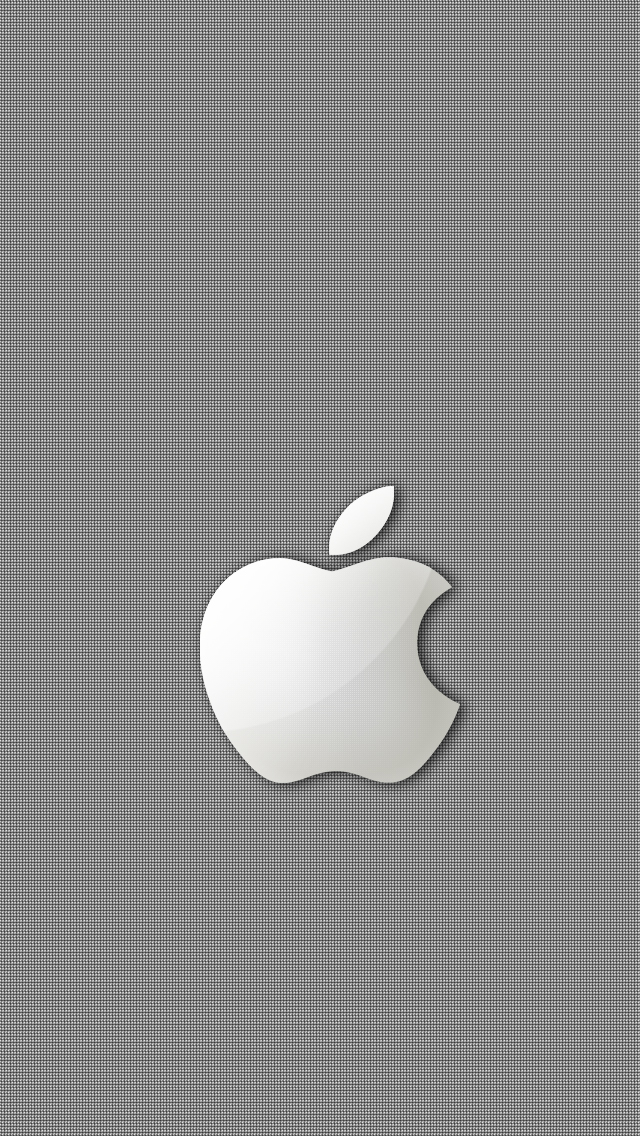 Silver Apple iPhone wallpaper 640x1136
