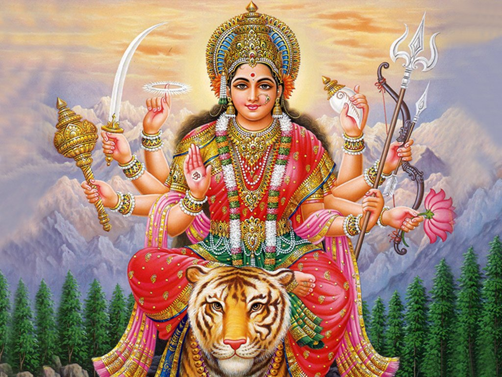 Maa Durga HD wallpapers Download 1024x768