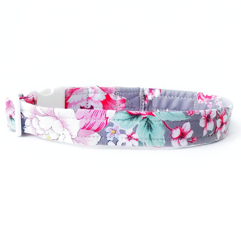 Amazoncom Fabric Dog Collar Girl Floral Dog Collar Adjustable 1500x1436