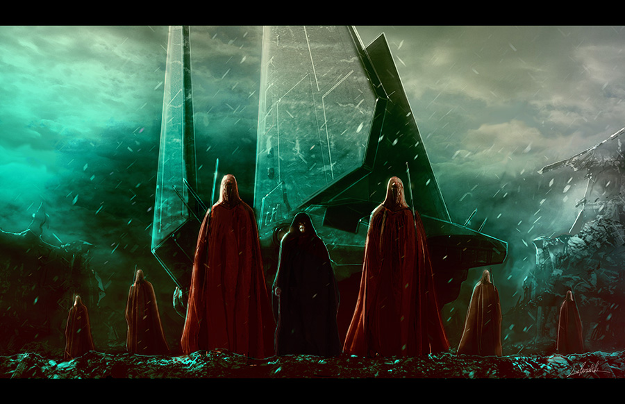 Palpatine and Royal Guards by LivioRamondelli 900x582