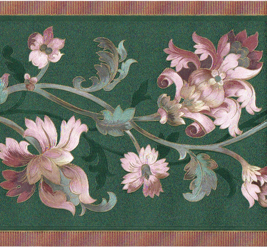 Free Download Pink Floral Floral Leaf Scroll Silk Satin Wallpaper