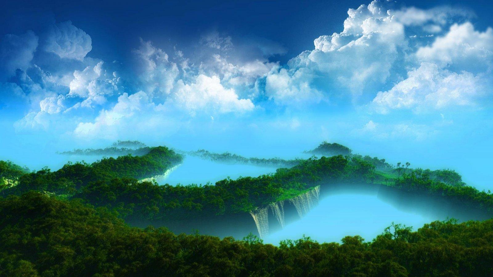 Beautiful waterfall desktop wallpaper 1600x900 hd Nature wallpaper 1600x900
