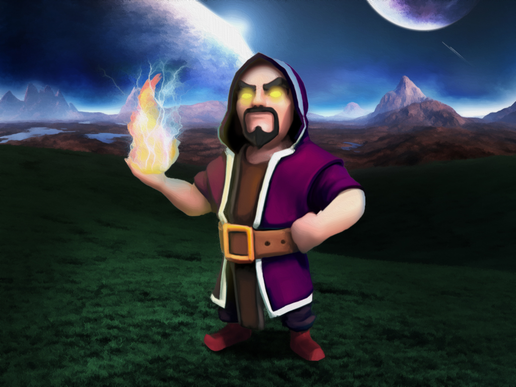 92 Clash Of Clans Wizard Wallpapers On Wallpapersafari