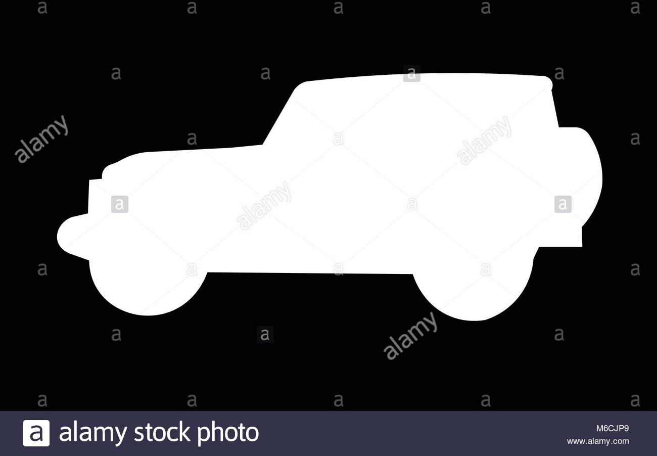 white jeep wrangler silhouette on black background Stock Vector 1300x902