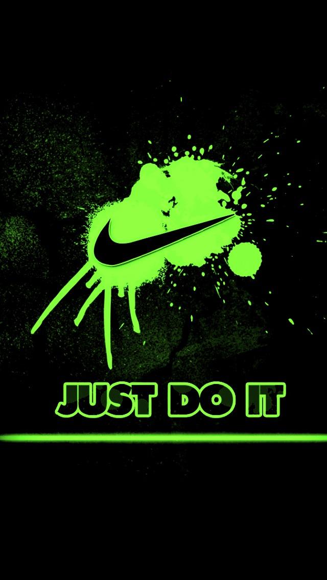 Green Nike Splash iPhone 5 Wallpaper 640x1136 640x1136