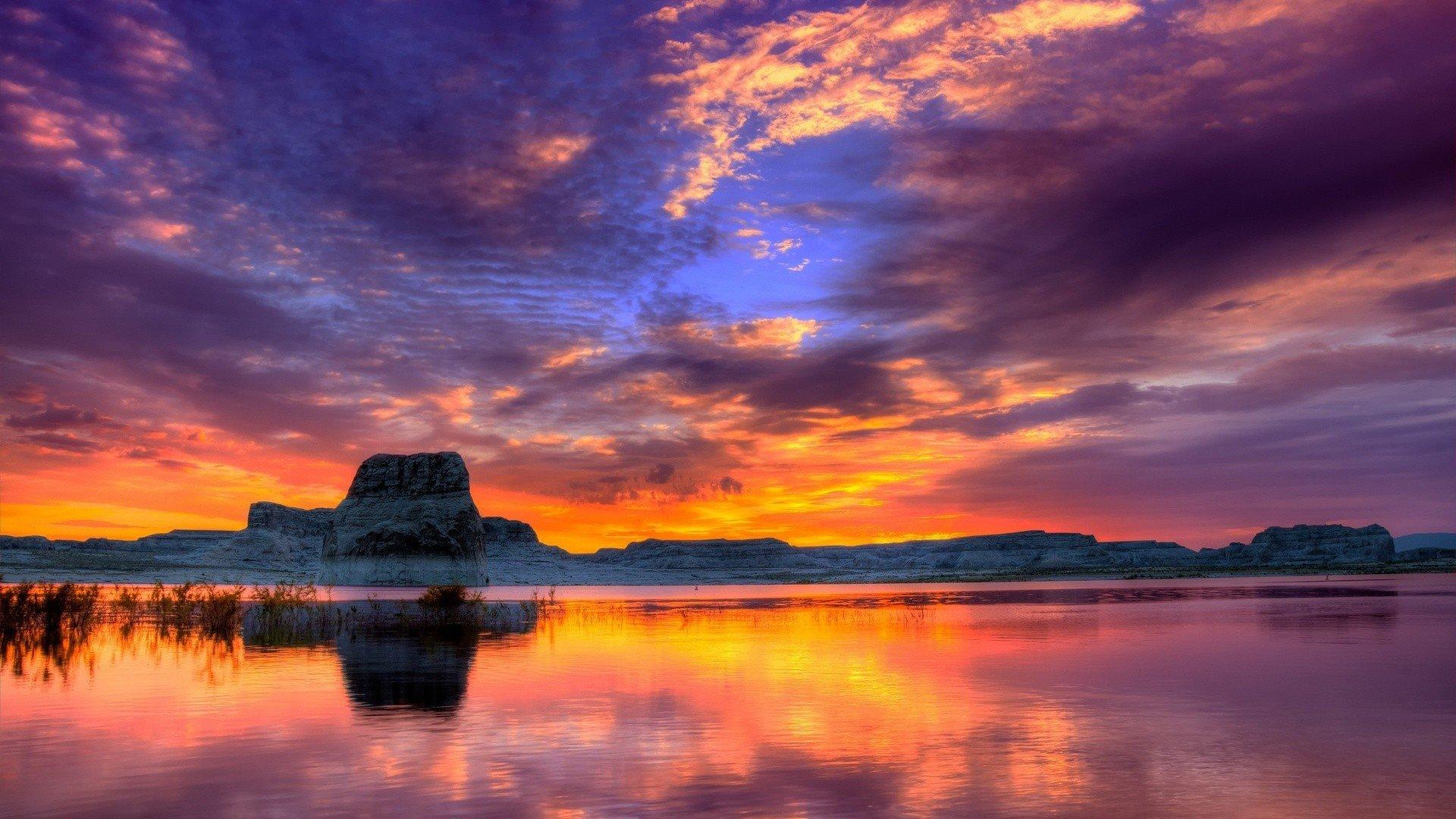 HD Lake Sunset   Best Ultra HD Wallpapers 1920x1080