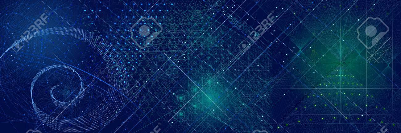 Sacred Geometry Symbols And Elements Background Cosmic Universe 1300x433