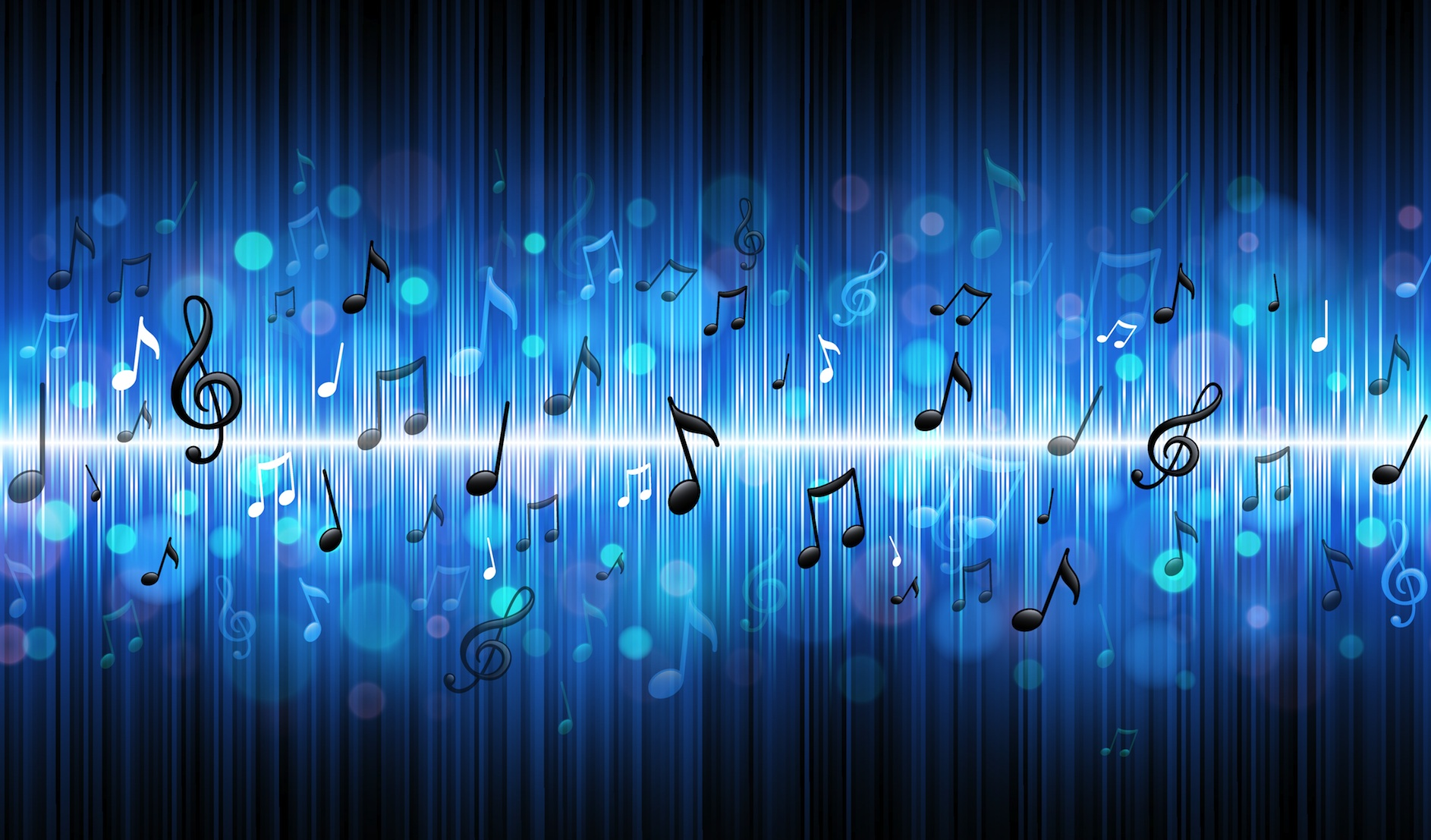 Blue music wallpapers wallpaper cave