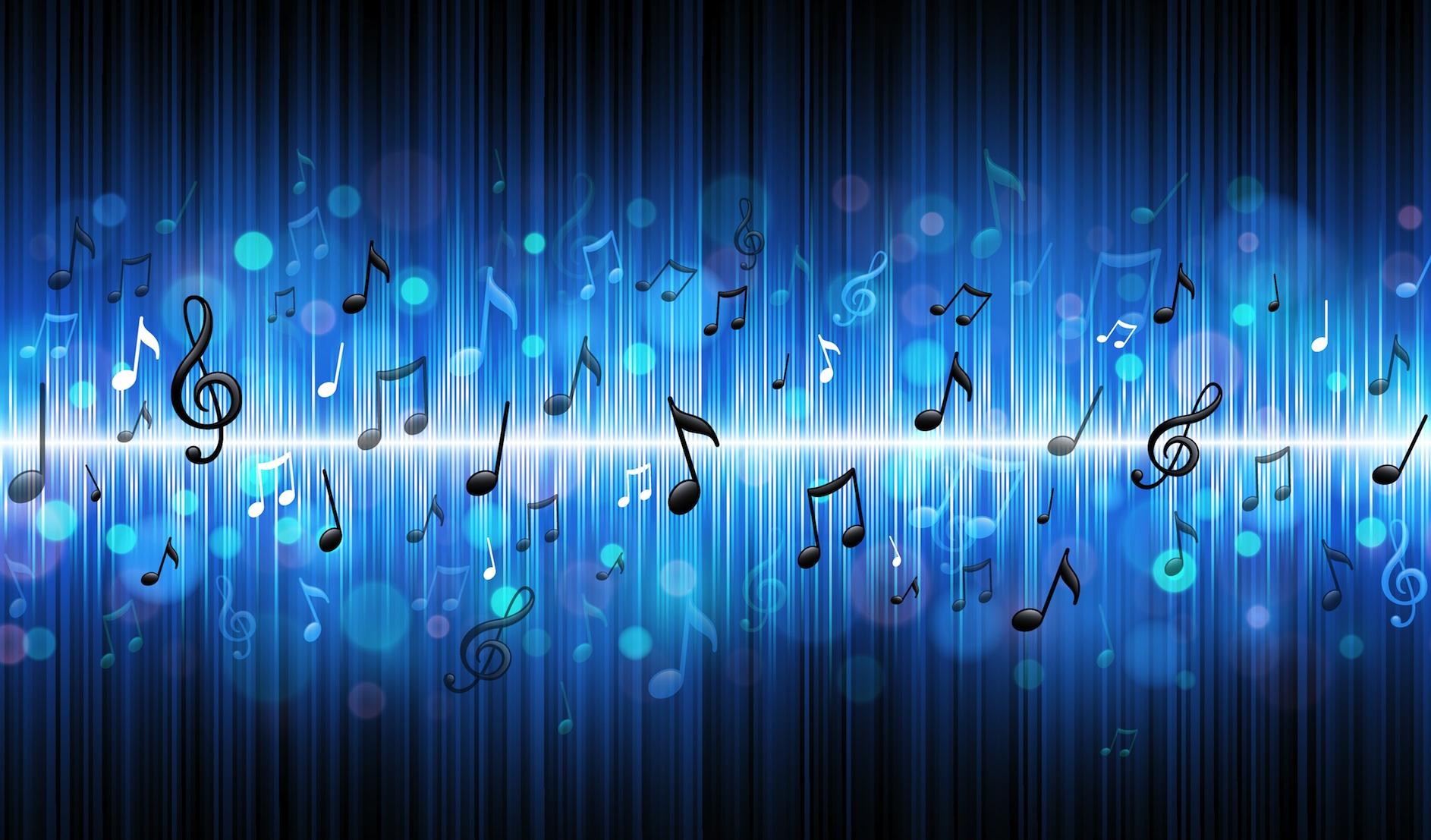 Blue Music Wallpaper - WallpaperSafari
