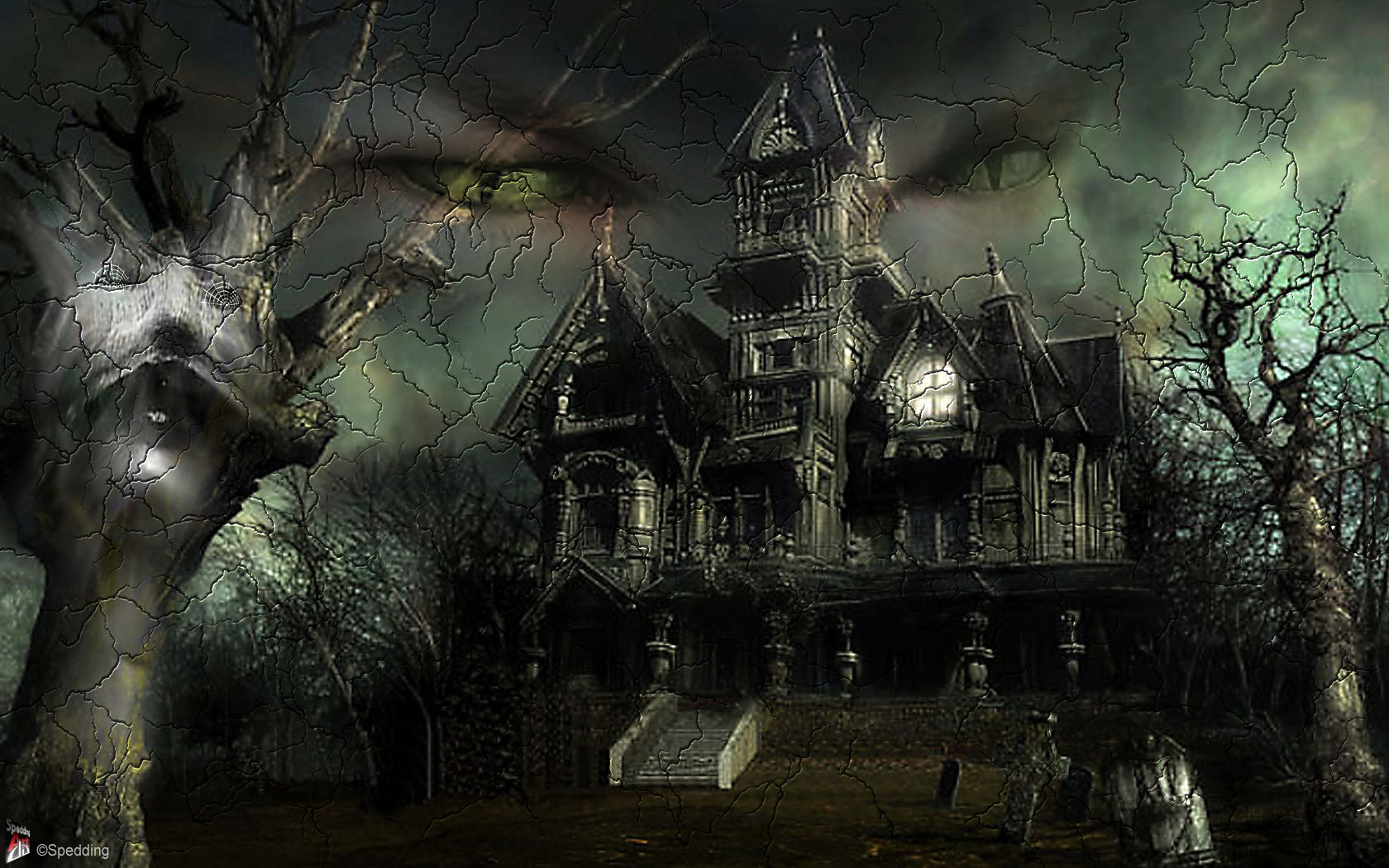 Pin 3d Halloween Wallpaper Fever 1680x1050