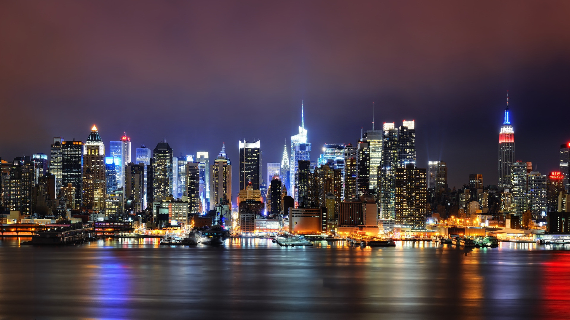 City Landscape New York Wallpaper Windows 1920x1080