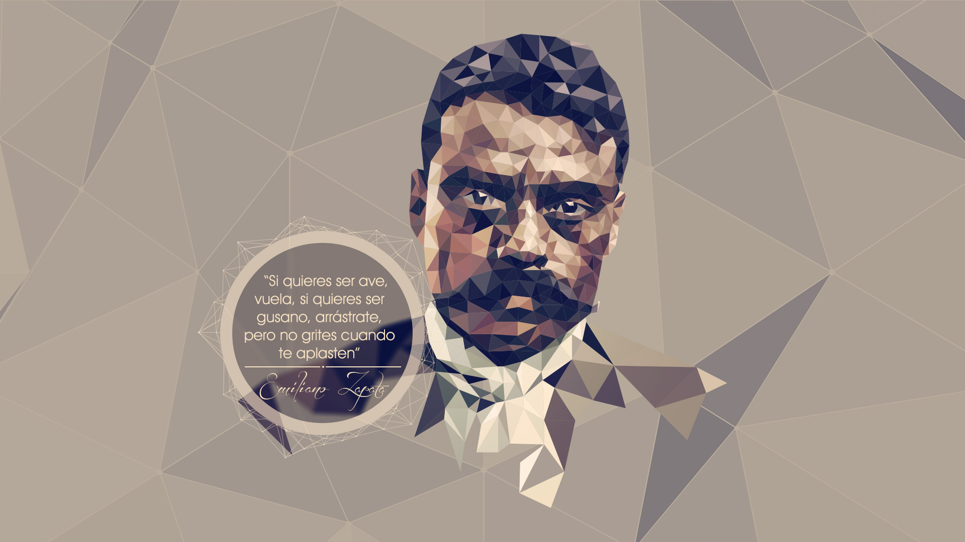 Emiliano Zapata LowPoly by giacko 1920x1080