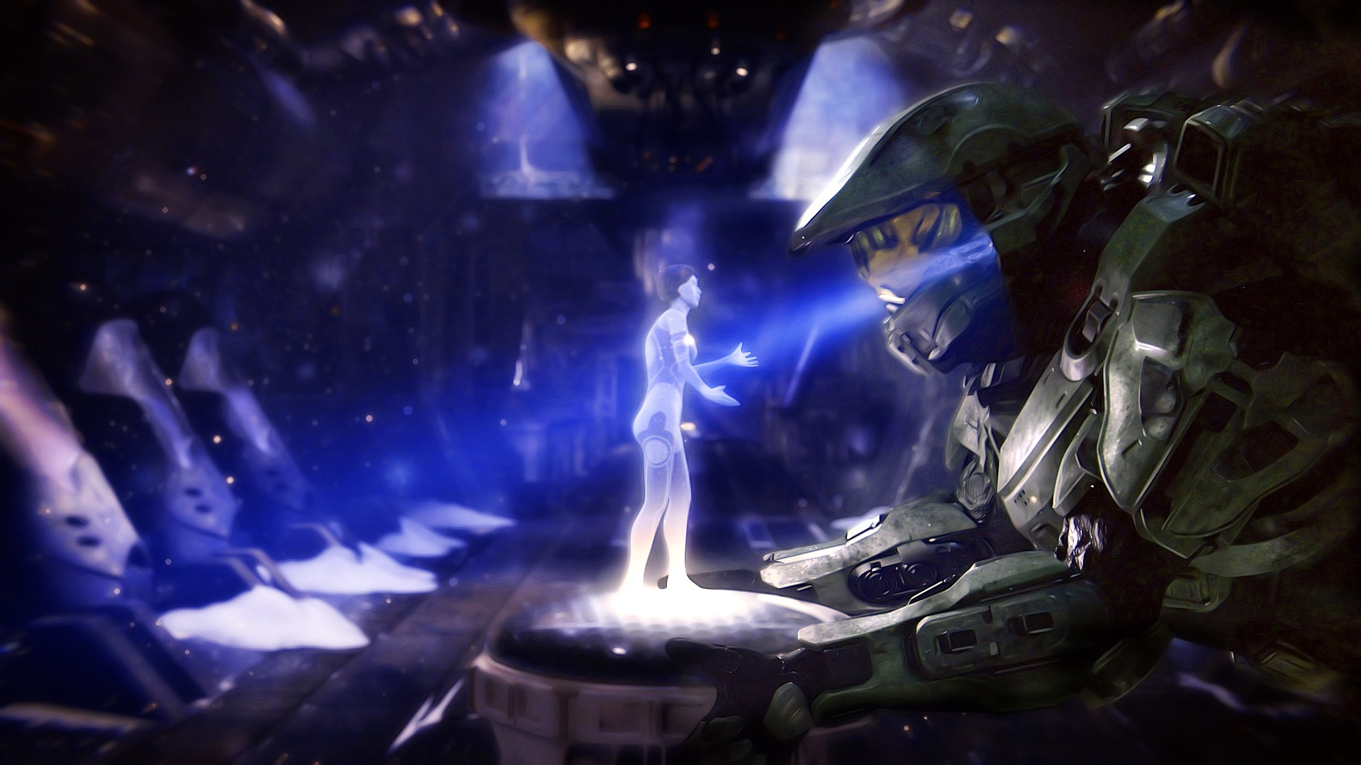 Free Download Cortana Master Chief Halo 4 Hd Wallpapers