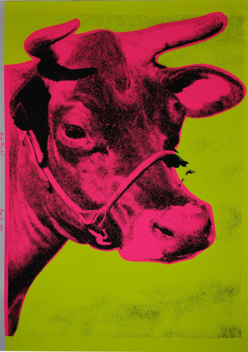 Andy Warhol Cow Wallpaper 1971 Pink 500x710
