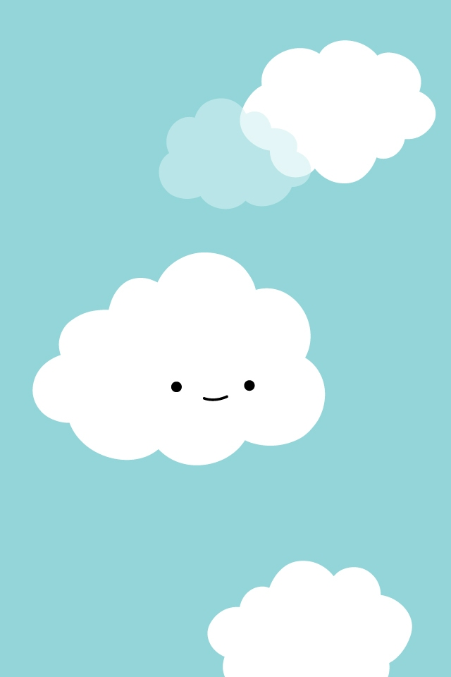 cute Clouds iPhone 4 Wallpaper Cute Girly Backgrounds Photos 640x960