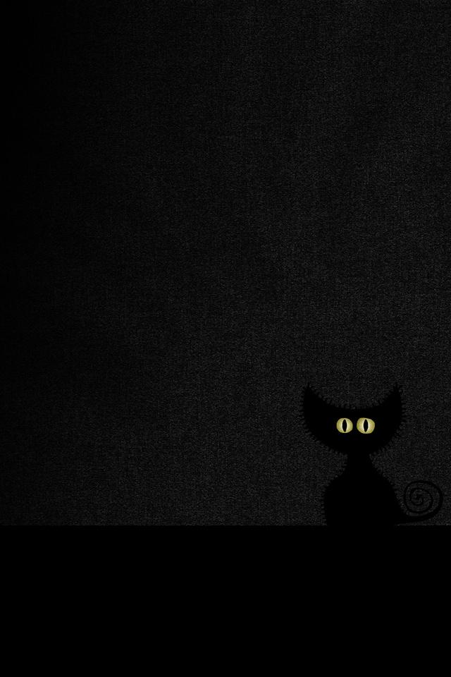 Black Cat Simply beautiful iPhone wallpapers 640x960