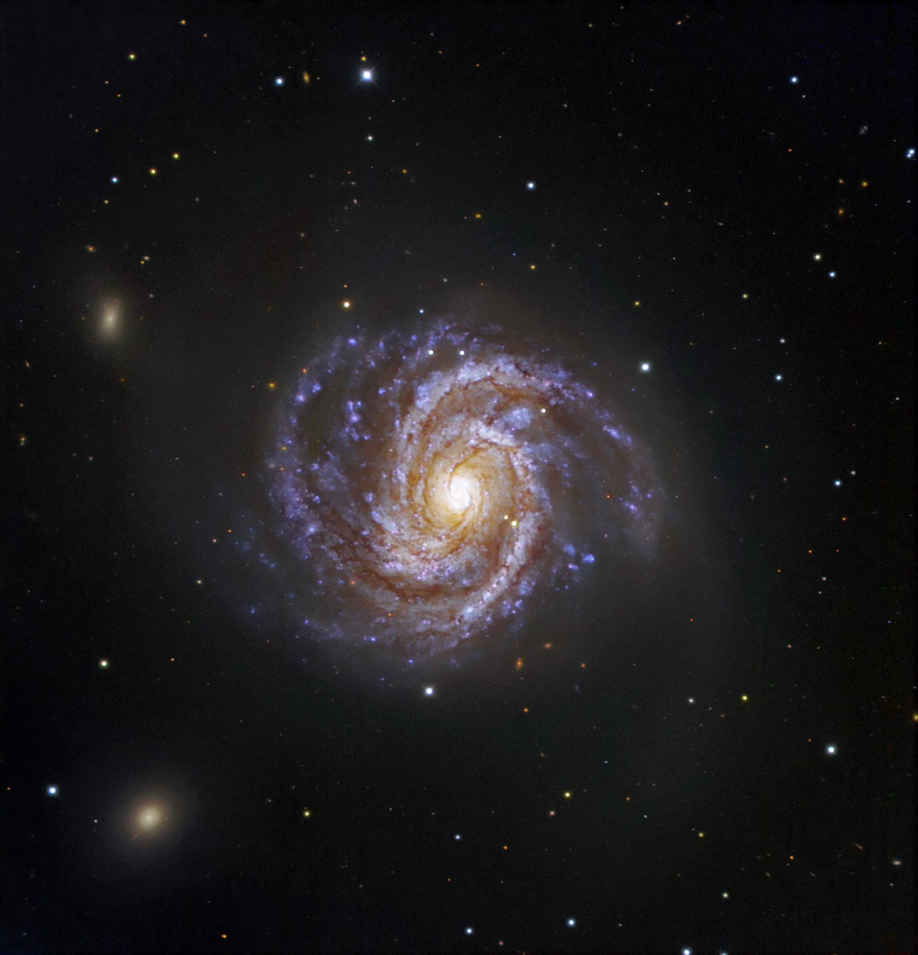Messier 100 and supernova SN 2006X ESO 1879x1955