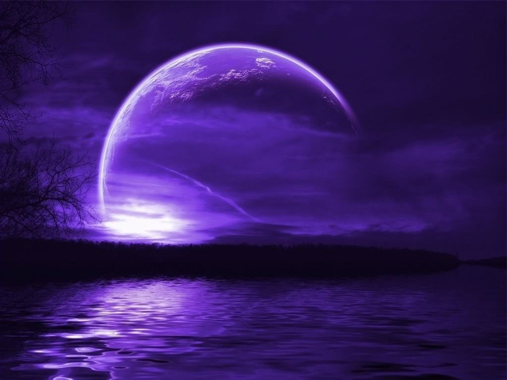 Purple Moon Wallpaper 3502 Hd Wallpapers in Space   Imagescicom 1024x768