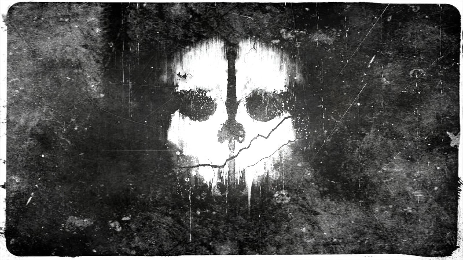 of Duty Ghost Skull Logo Video Game HD Wallpaper Desktop PC Background 1600x900