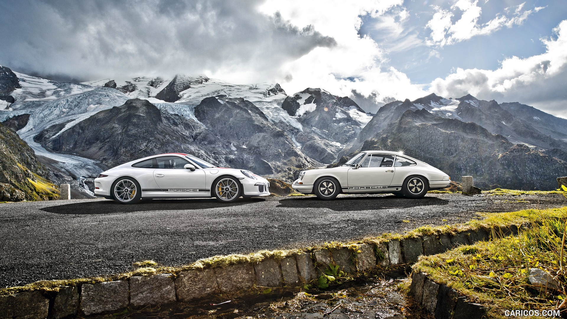 2017 Porsche 911 R and 1967 911 R   Side HD Wallpaper 18 1920x1080