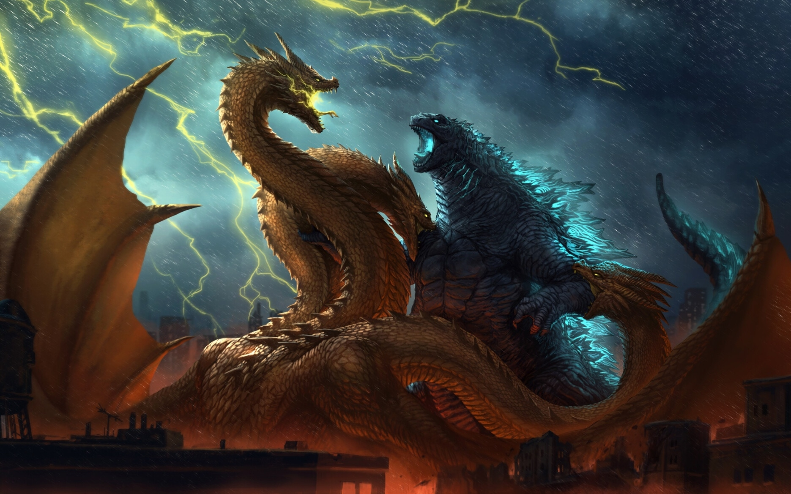 2560x1600 Godzilla vs King Ghidorah King of the Monsters 2560x1600 2560x1600