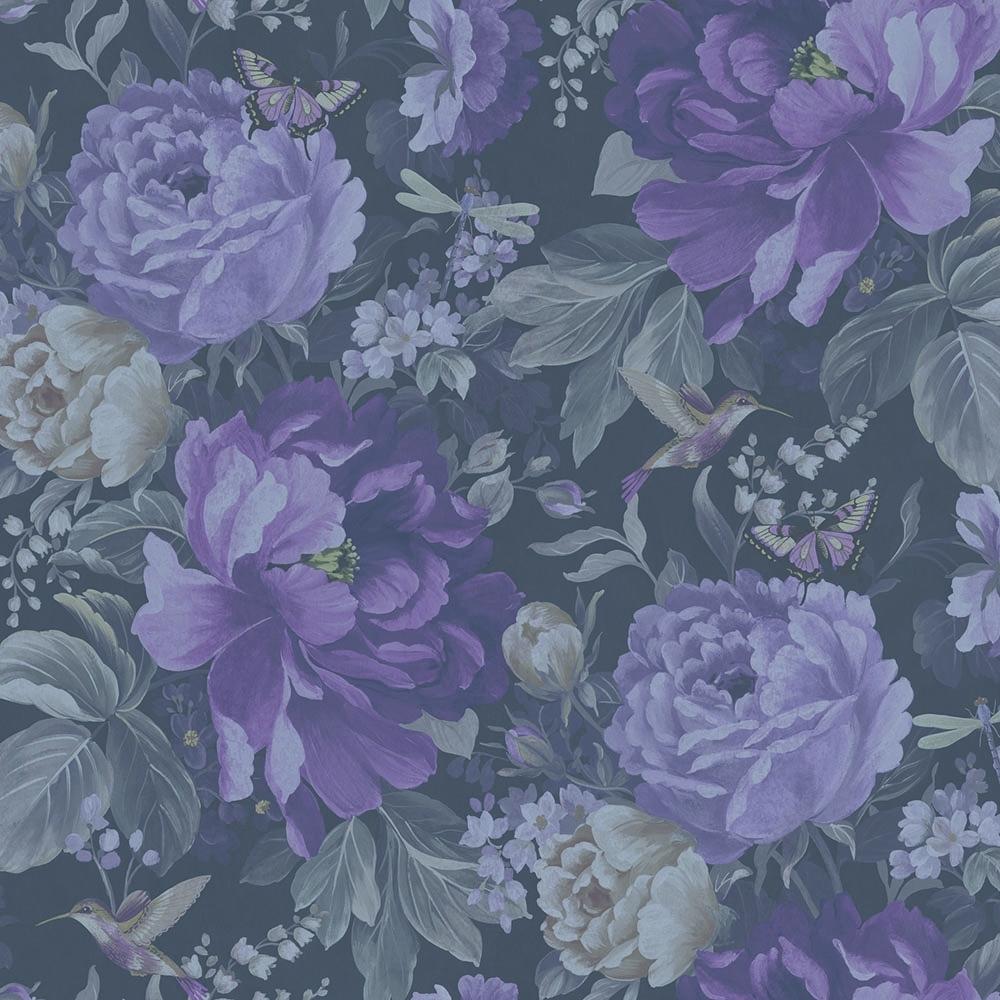 A Shade Wilder Dianthus Floral Wallpaper Purple Haze 300111 1000x1000