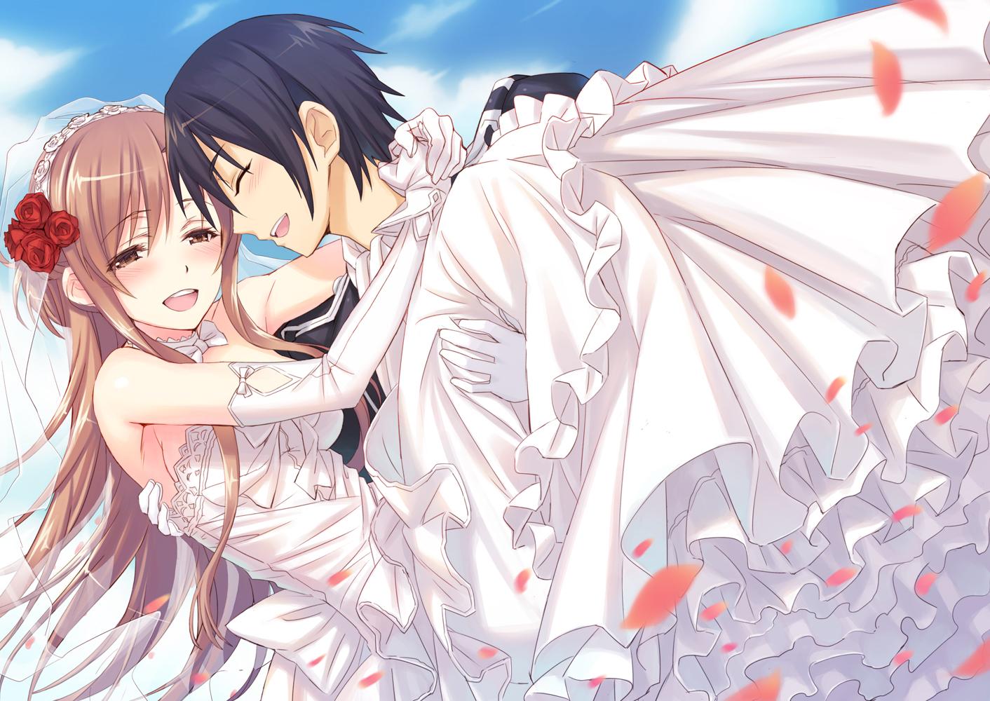 Anime Wedding   Kirito And Asuna Wedding Hd Wallpapers 1412x1000