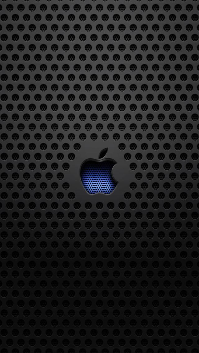 Apple Logo Metal Texture iPhone 5s Wallpaper Download iPhone 640x1136